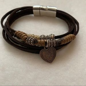 Jewelry - MOVING SALE Leather Magnetic Bracelet with Charms